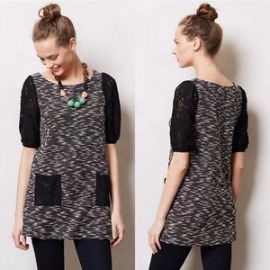 Anthro Postmark Staccato Lace Tunic